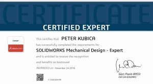 Peter K cert SOLIDWORKS